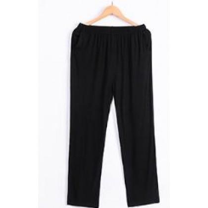 Men Men's Pajama Pants 100% Cotton  Men Comfy Trouser Casual Straight Cut Size